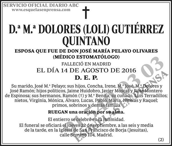 M.ª Dolores (Loli) Guitérrez Quintano